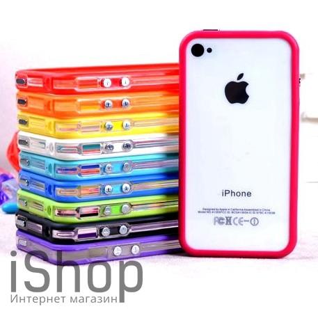 10.Бампер для iphone 4-4s в ассортименте