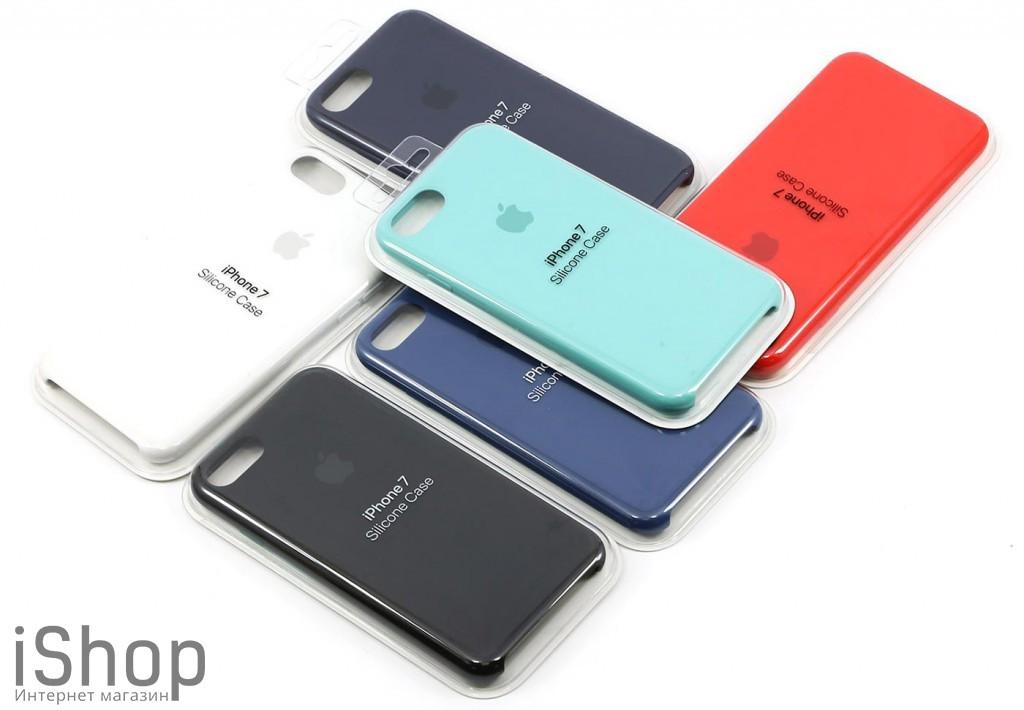 21.Оригинальный силиконовый чехол для iPhone 7-8