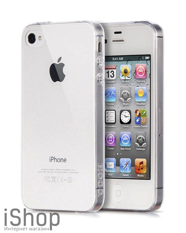 22.Силиконовый чехол для iPhone 4-4s (прозрачный)