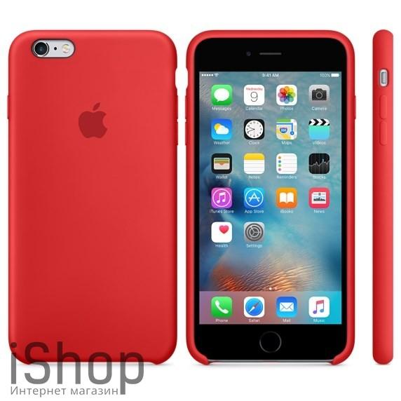 3.Оригинальный силиконовый чехол для iPhone 6 (красный)