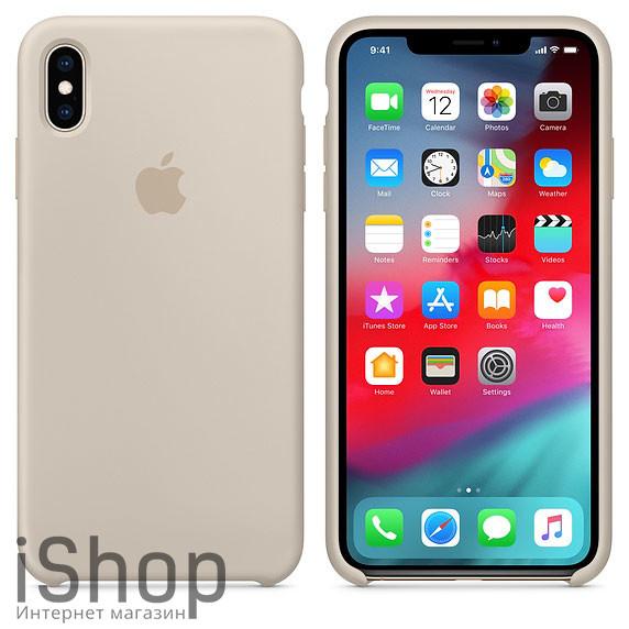 39.Силиконовый-чехол-для-iPhone-XS-Max-Бежевый