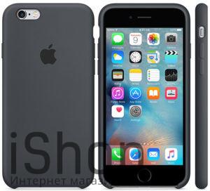 4.Оригинальный силиконовый чехол для iPhone 6S (темно-серый)