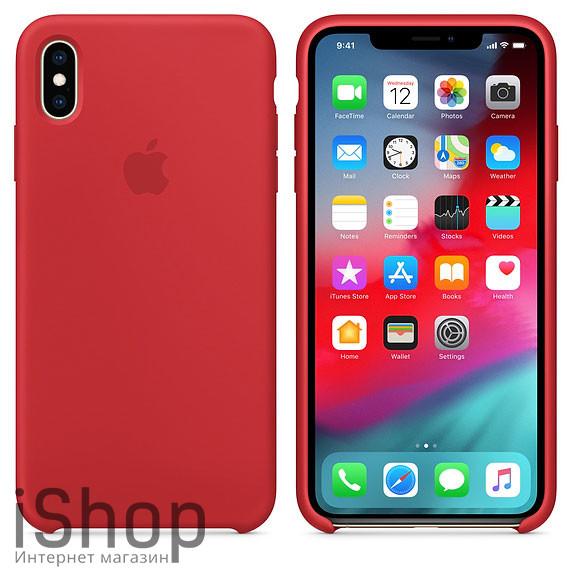 41.Силиконовый-чехол-для-iPhone-XS-Max-RED