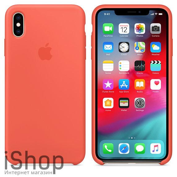 44.Силиконовый-чехол-для-iPhone-XS-Max-Оранжевый