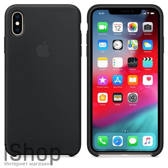 47.Силиконовый-чехол-для-iPhone-XS-Max-Чёрный-(Black)