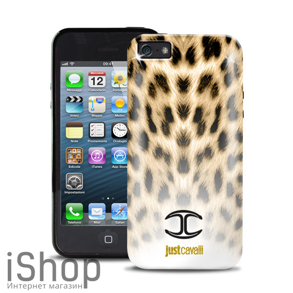 9.чехол леопардовый just cavalli для iphone 5-5s-se